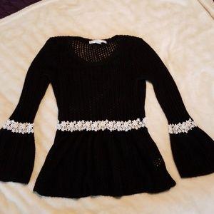 LC Lauren Conrad black loose knit sweater